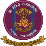 59 Fd Sqn RE Singapore Embroidered Polo Shirt Sale